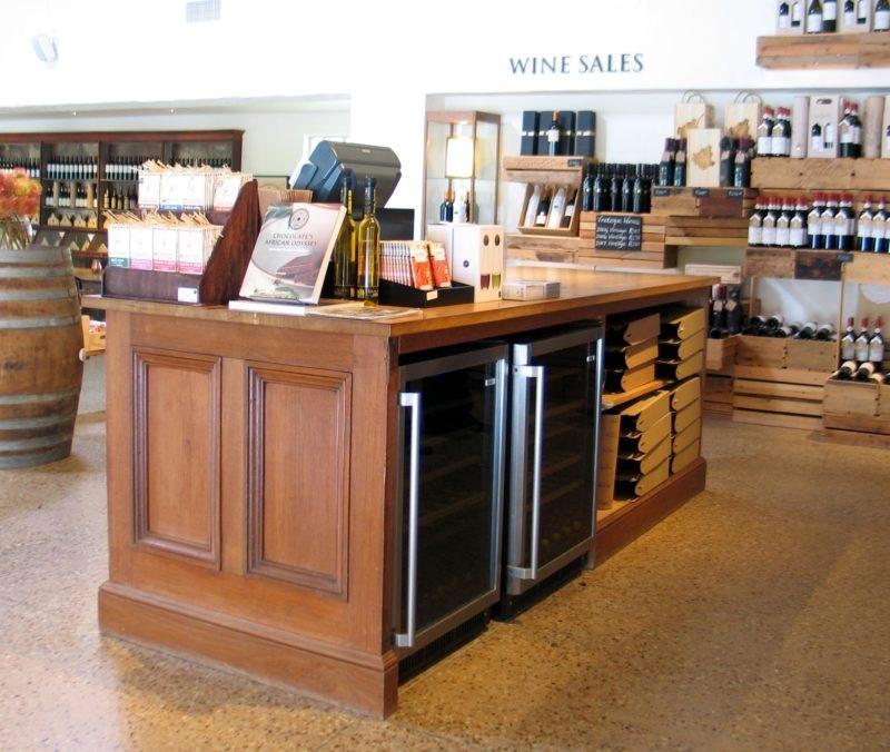 Reclaimed teak and French oak wine storage unit.