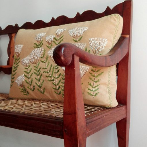 Hand-embroidered cushions by Casamento