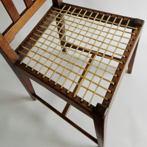 19th century stinkwood and riempie Overberg chair