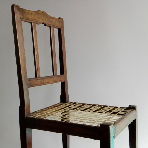 19th century stinkwood and riempie Transitional Tulbagh chair
