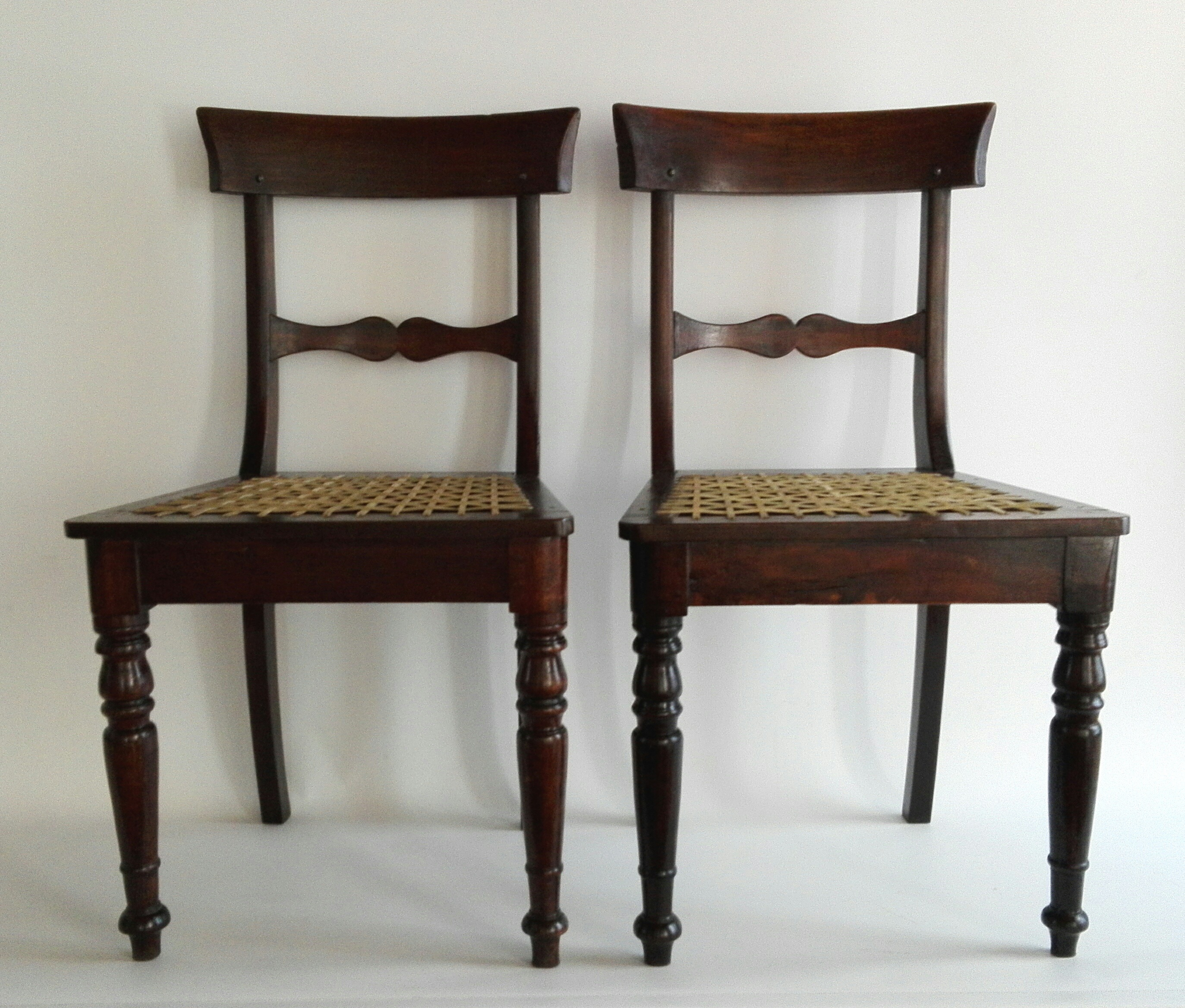 Pair Of 19th Century Stinkwood And Riempie Cape Regency Chairs