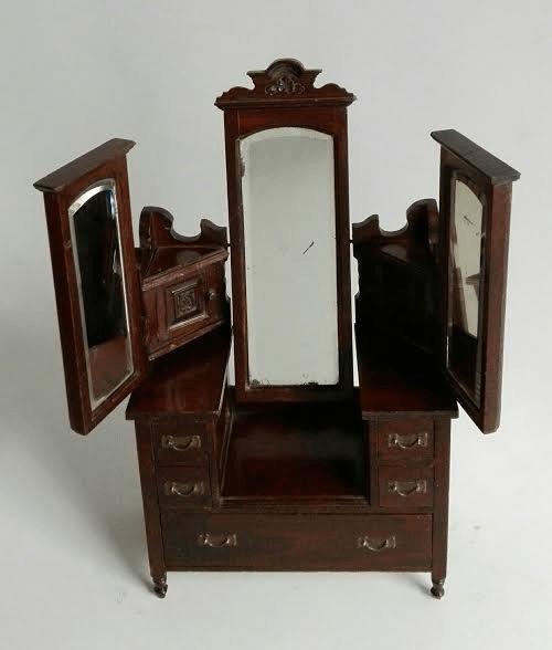 Miniature oak dressing table