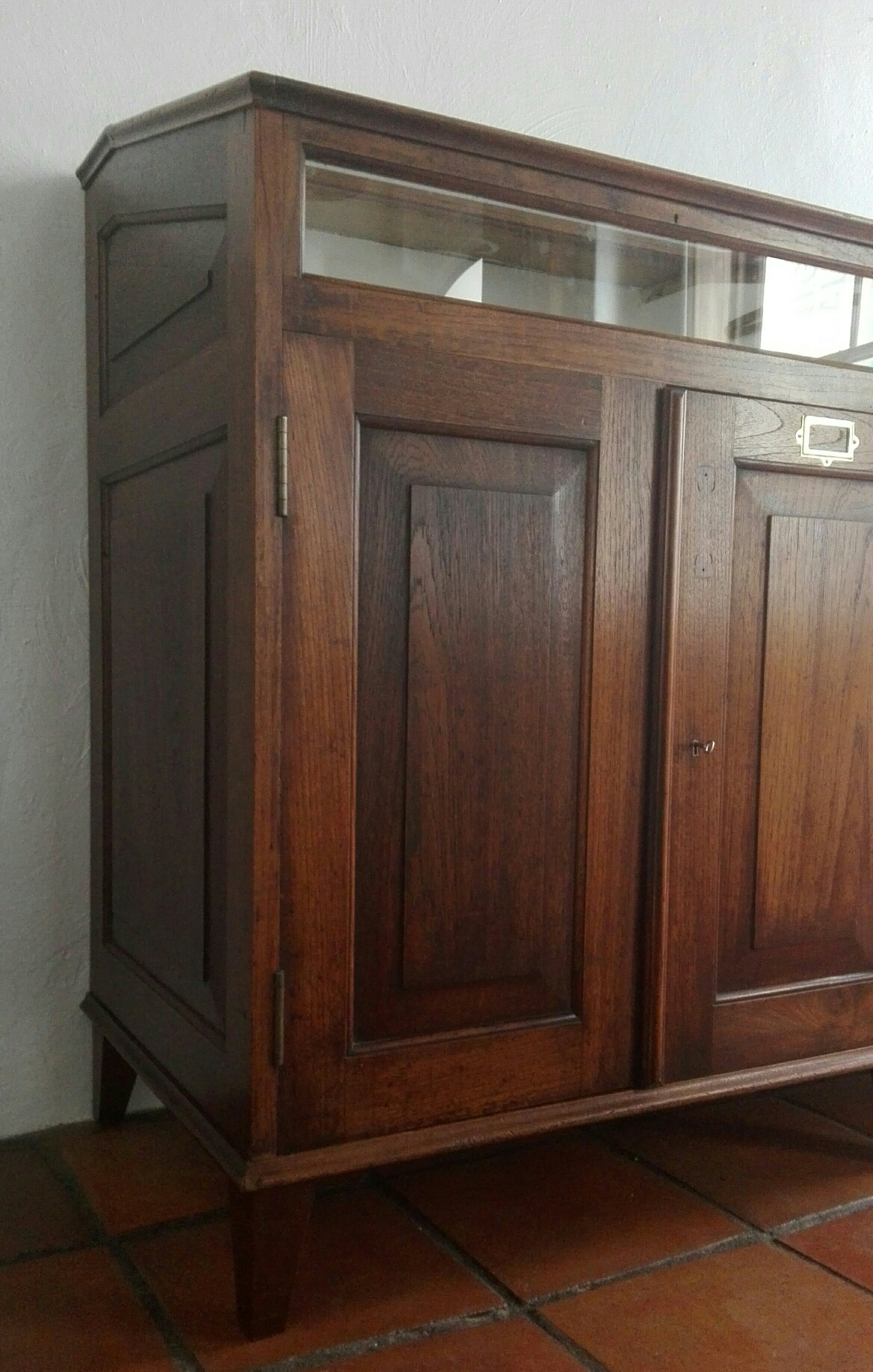 Early 20th Century Teak Glazed Cabinet Lutge Gallery