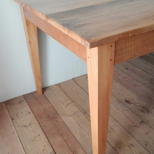 Table made from 19th century reclaimed yellowwood