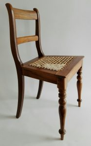 Stinkwood and riempie late 19th century Cape chair