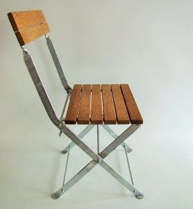 Outdoor chairs l reclaimed Burmese teak & galvanised steel