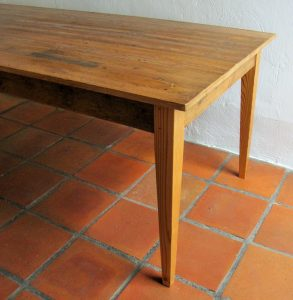 2,3 m table made from reclaimed 19th century Oregon pine