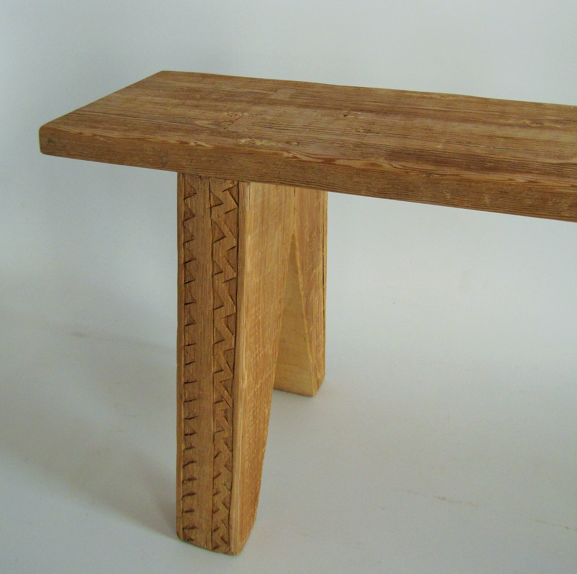 Handcarved benches made from reclaimed oregon pine lutge for Reclaimed wood furniture oregon