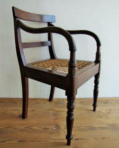 Stinkwood and riempie 19th century carver