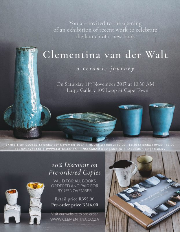Clementina van der Walt to celebrate the launch of her book