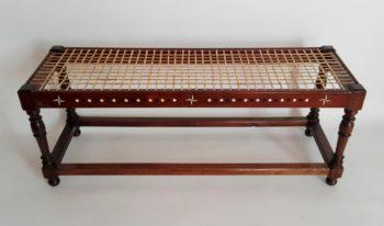 Inlay stinkwood bench