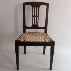 15 split-splat chair, cane