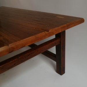 14 coffee table, yellowwood, stretcher