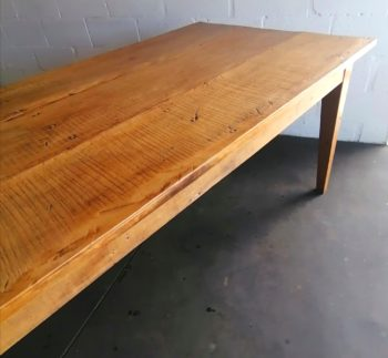Yellowwood table photograph, inside Lutge Gallery workshop